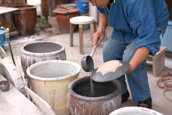 上野焼の釉薬
