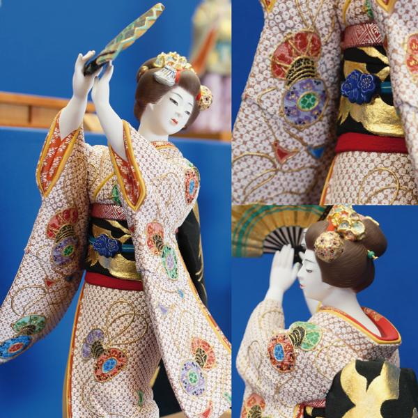 博多人形の細やかな作業