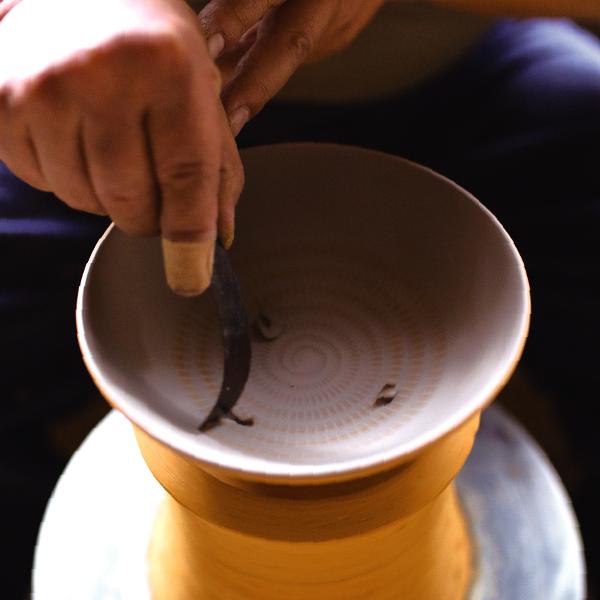 小石原焼の技法「飛び鉋」